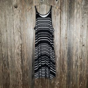 Old Navy Black White Knit Tank Dress